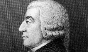 Adam Smith never married and lived with his mother.