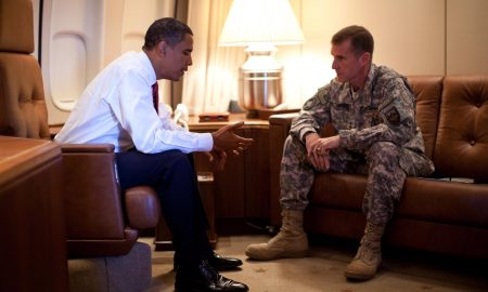 barack obama meeting with army gen stanley mcchrystal o