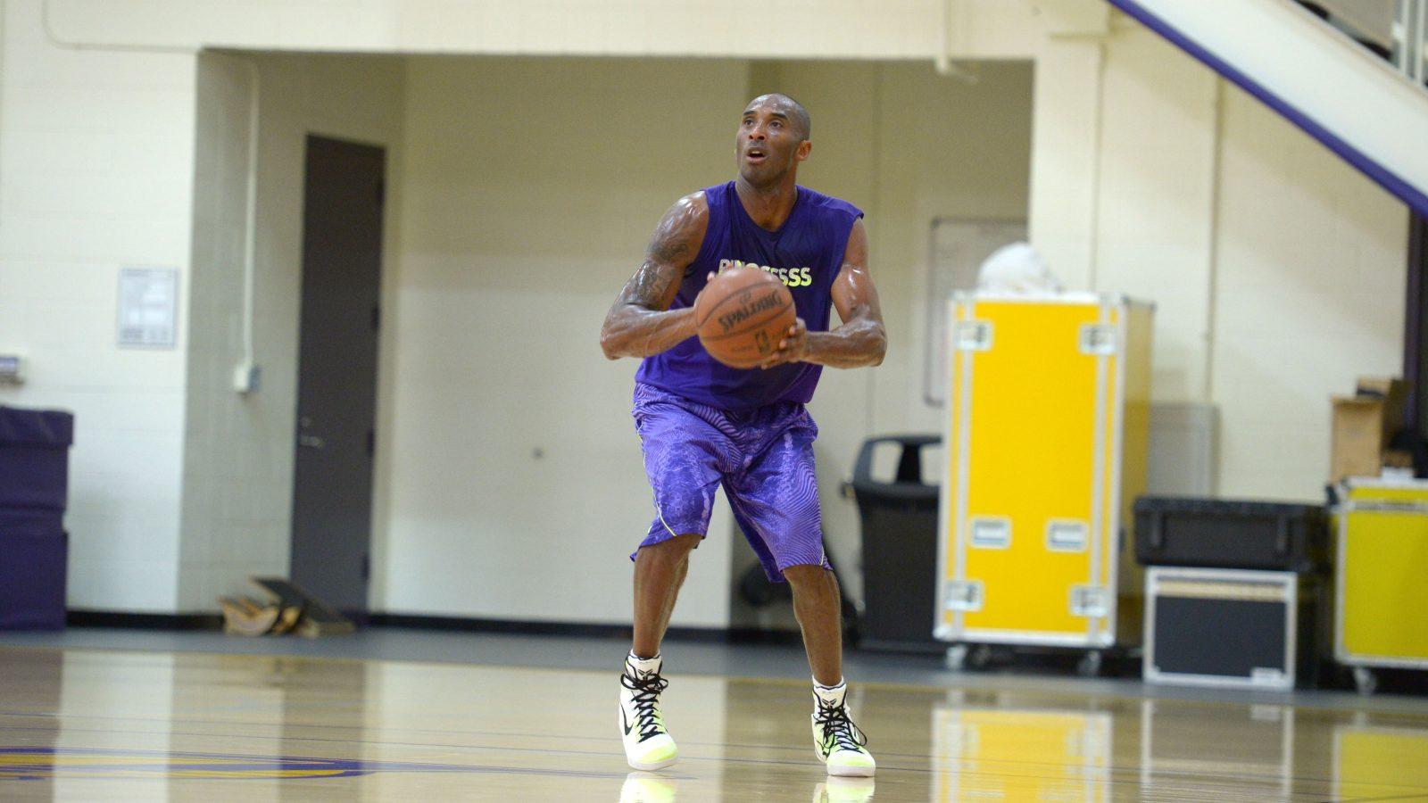 Kobe Bryant treinando
